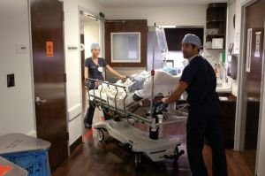 medical staff preparing for surgery
