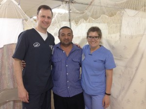 Dr. Meier with a patient in Honduras
